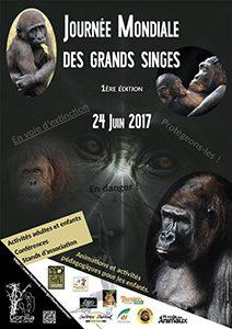 Affiche de la Journée Mondiale des Grands Singes 2017