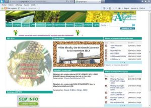 "webmaster -""Semences"" , page web du site internet Agrigroup - 2012"