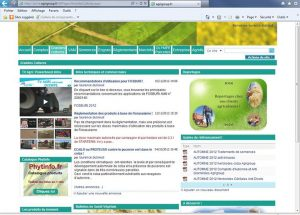 "webmaster - ""Grandes Cultures"" , page web du site internet Agrigroup - 2012"
