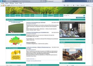 "webmaster - ""Réglementaire"" , page web du site internet Agrigroup - 2012"