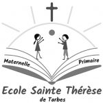 Logo Ecole Ste Thérèse de Tarbes en nuances de gris