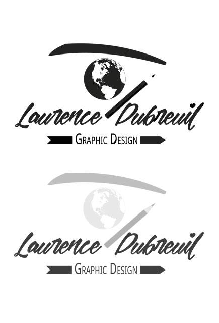 Planche - Logo noir sur fond blanc - Logo niveau de gris