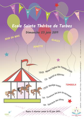 Affiche kermesse école Sainte Thérèse 2019