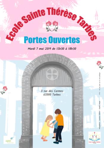 Affiche Portes Ouverstes Ecole Sainte Thérèse Tarbes - 2019
