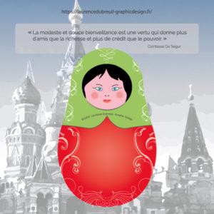Poupée russe - Laurence Dubreuil Graphic Design - 2018